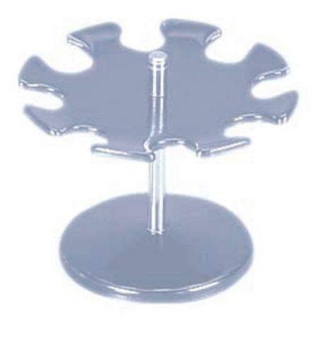 Stempelträger rund für 8 Stempel MAUL grau glänzend