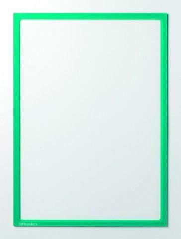 Infotaschen magnetisch DIN A4 312x225mm grün VE= 5 Stk.