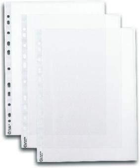 Prospekthüllen DIN A4 oben offen genarbt 40mµ farblos (100 Stück)