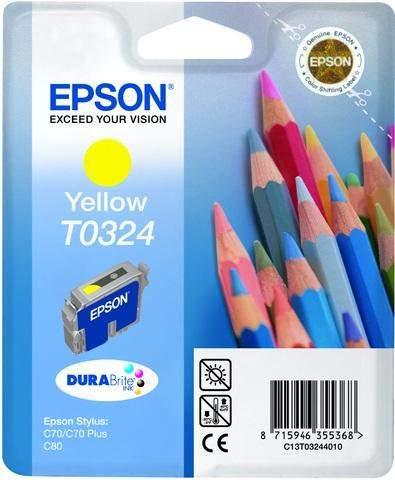 Tintenpatrone Epson T0324 C13T03244010 gelb 16ml 420 Seiten
