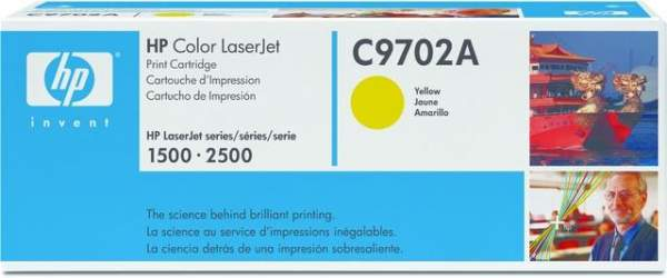 Toner HP C9702A f. Color LaserJet Serie 1500 2500 gelb 4.000Seiten