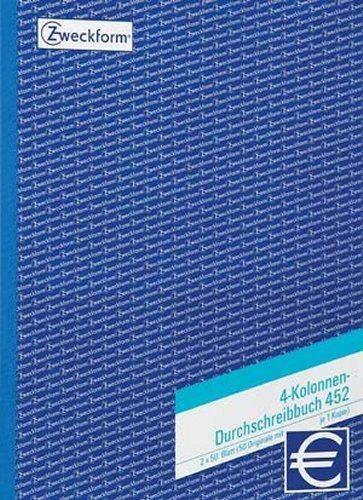 Durchschreibebuch Zweckform 452 A4 2x 50 Blatt 4 Kolonnen