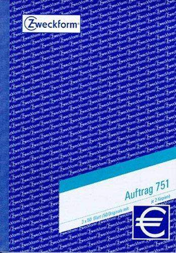 Auftragsbuch A5 Zweckform 751 hoch 3f. Blaupause 3x50Blatt
