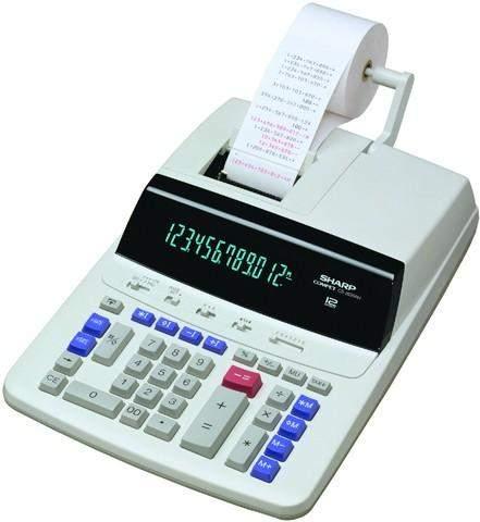 Tischrechner Sharp CS-2635RH farbiger Druck Profi-Rechner