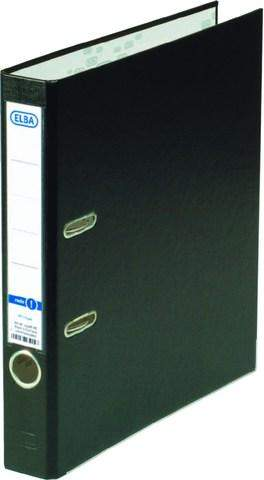 Ordner A4 Kunststoff 5 cm Rücken schmal Elba 10454 schwarz