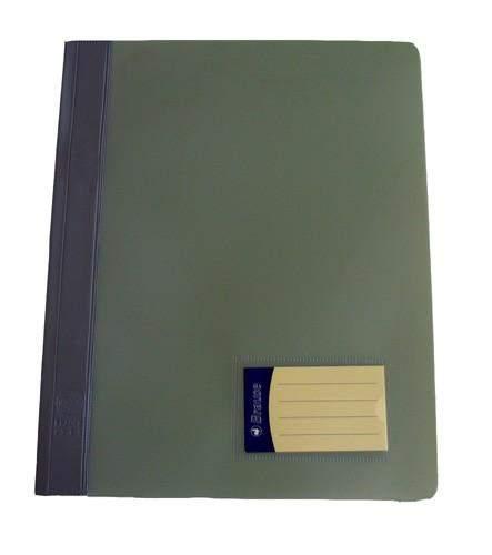 Schnellhefter PVC-Folie mit Innentasche DIN A4 grau / 1 Stück