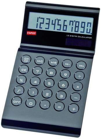 Tischrechner Wave 10stellig 108x197x40mm 145g schwarz Retrolook