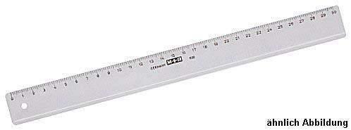 Lineal 40cm Kunststoff transparent