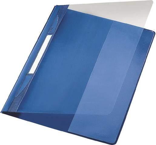 Schnellhefter Exquisit LEITZ 4194 DIN A4 kfm. Heftung blau / 1St.
