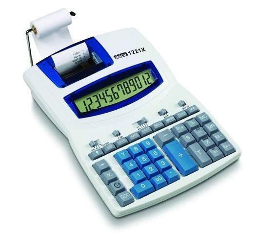 Tischrechner ibico® 1221X Netzanschluss druckend 12stellig / 1 St.