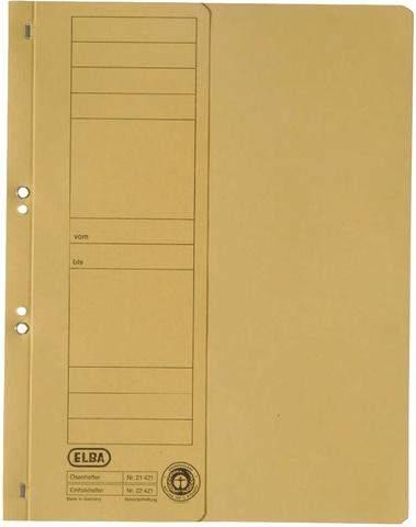 Ösenhefter Elba 21421 halber Deckel 1/2 Amtsheftung gelb 50St.
