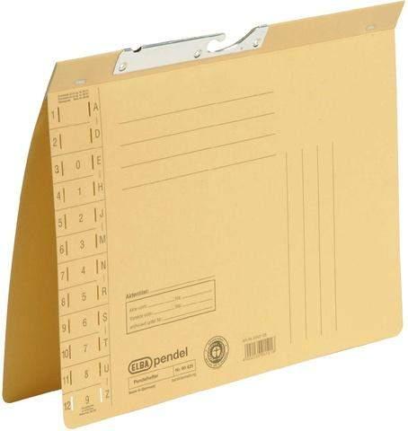 Pendelhefter Elba 90431 Karton 320g Amtsheftung A4 gelb
