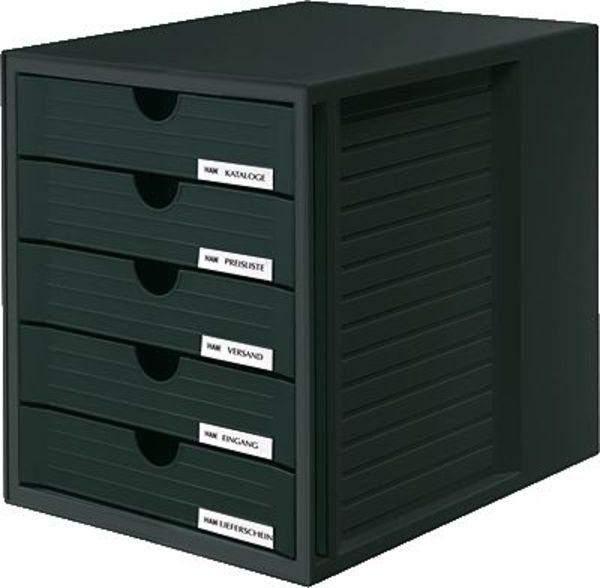 Schubladenbox mit Beschriftungsschild