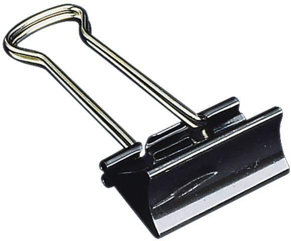 Klammer Foldback 41mm breit Klemmweite 19mm schwarz VE = 12 Stück