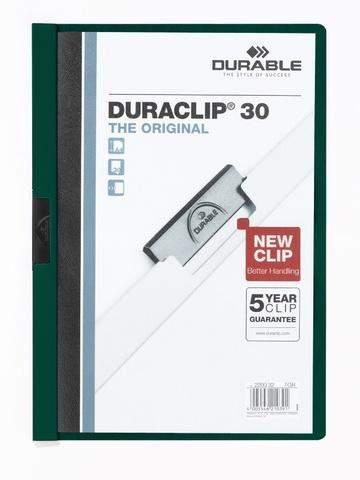 """Klemm-Mappe """"Duraclip"""" DIN A4 petrol f. 30 Blatt / 1 Stück"""