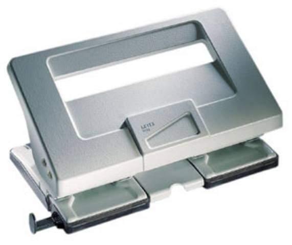 Locher Leitz 5132 Doppellocher 4-fach 4 mm, 40 Blatt grau /1 St.