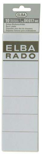 Rückenschilder ELBA 04617 190x59 selbstklebend weiß (Btl.=10St.)
