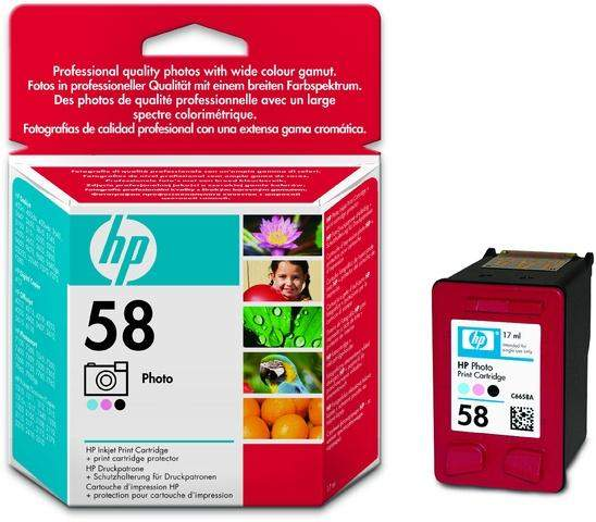 Tintenpatrone HP Nr. 58 C6658A Foto 3farbig 17 ml 125 Seiten