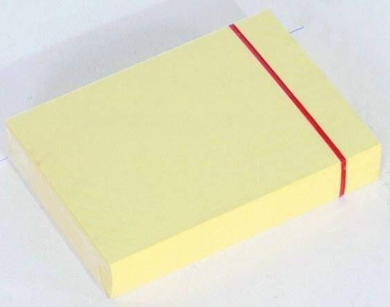 Karteikarten blanko DIN A7 gelb (Pckg. á 100 Stück)