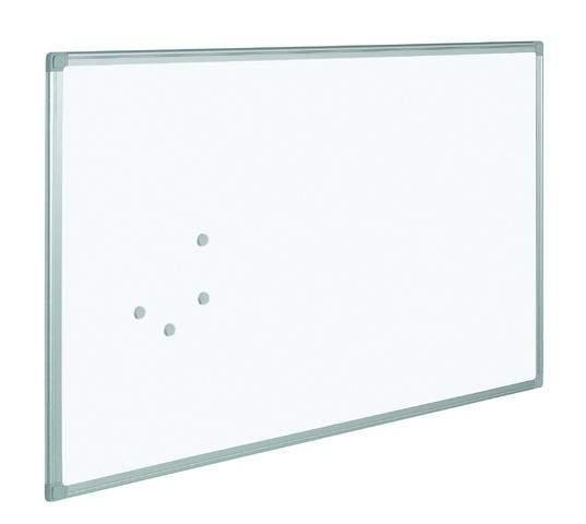 Schreibtafel 90x60cm Whiteboard weiß magnetisch Alurahmen 1St