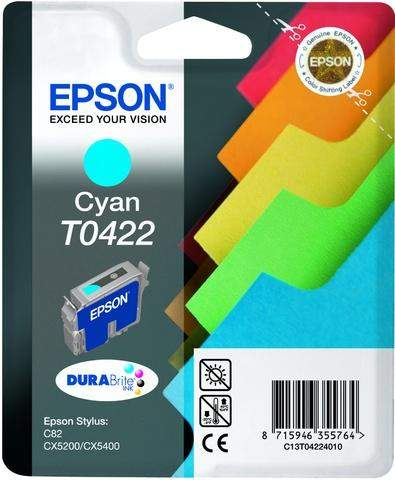 Tintenpatrone Epson f. Styl.C82/CX5200 cyan original 16ml 420 Seiten