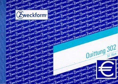 Quittungsblock Zweckform 302 A6 quer 50 Blatt MwSt.-Nachweis