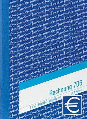 Rechnungsblock Zweckform 706 A6 2x50 Blatt / 1 St.