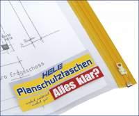 Planschutztaschen A0 90x125 cm PE-Folie transparent Pckg. á 5 St.