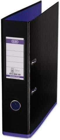 Ordner Elba myColour PP mit Griffloch A4 80mm schwarz / lila violett