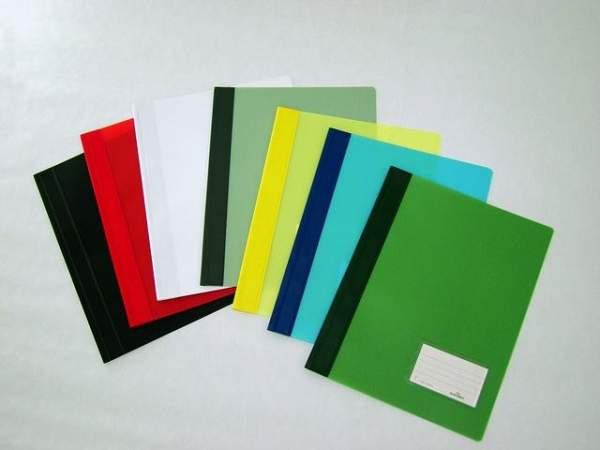 Sichthefter A4 mit Abheftrand DURALUX® Folie grün transluzent