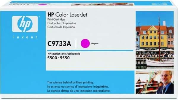Toner HP C9733A magenta 12.000 Seiten f. LaserJet 5500