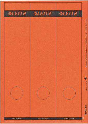 Rückenschilder Leitz 1687 PC 285x61 rot Loch unten Pa=75St.