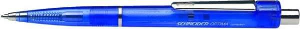 Kugelschreiber Schneider Optima blaue Mine blauer Schaft 10 St.