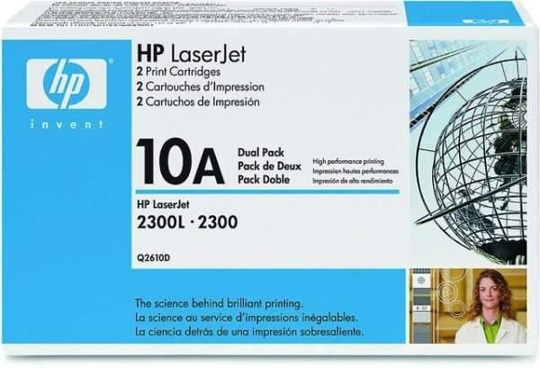 Toner HP 10A Q2610D schwarz 6.000 Seiten 2er Pack
