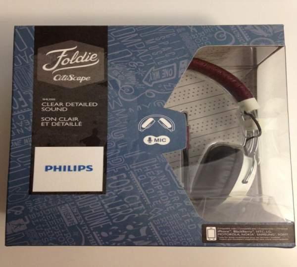 Kopfhörer Philips Foldie CitiScape mit Mikrofon braun-weiß