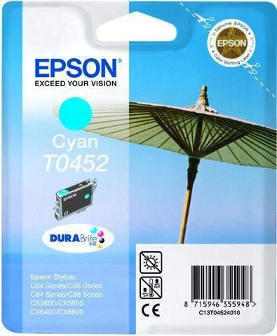 Tintenpatrone Epson C13T04524010 cyan 8ml 250 Seiten original
