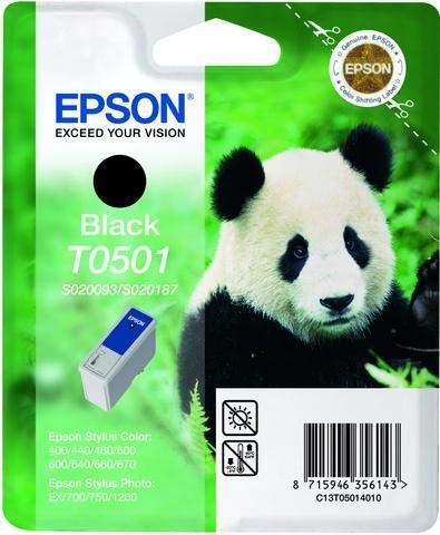 Tintenpatrone Epson T0501 C13T05014010 schwarz 540 Seiten