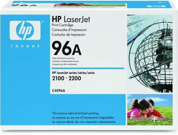 Toner HP 96A C4096A schwarz 5.000 Seiten für HP Laserjet + Canon