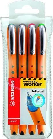 Kugelschreiber Stabilo Tintenkuli bionic® Worker 0,5mm 4er Set
