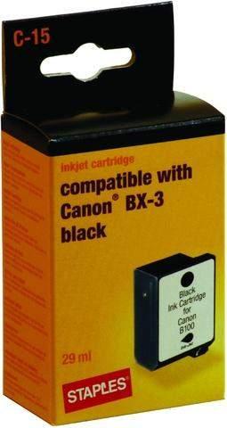 Tintenpatrone Canon BX-3 kompatibel schwarz 29 ml