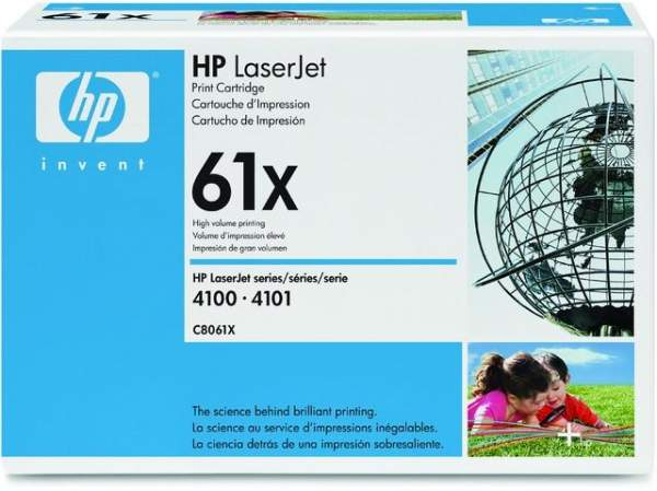 Toner HP 61X C8061X schwarz 10.000 Seiten f. Laserjet 4100