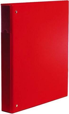 Ringbuch A4 4-Ring-Reißmechanik Ring-Ø 25 mm rot / 1 St.