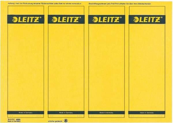 Rückenschilder Leitz 1685 PC-Beschriftung A4 61x191mm gelb 100 Stück