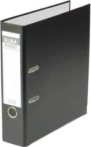 Ordner Elba 10417 RADO brillant Einsteckrückenschild A4 80mm schwarz
