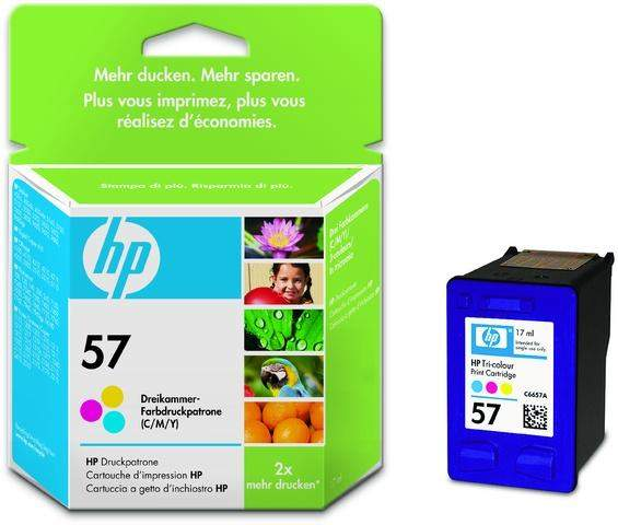 Tintenpatrone HP Nr. 57 C6657AE 3farbig color 17 ml 400 Seiten