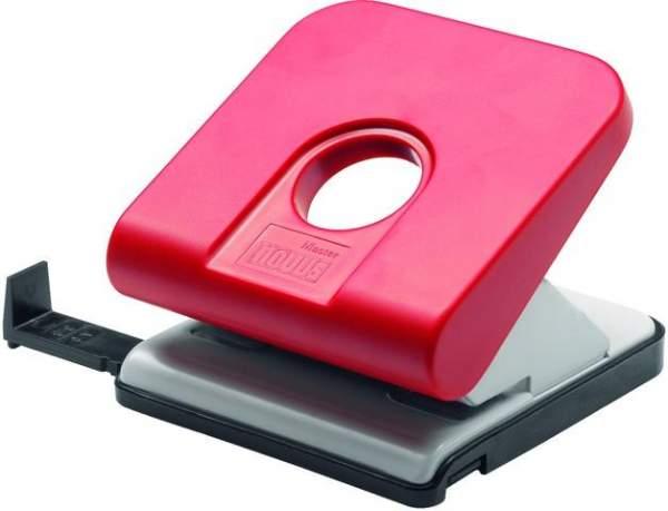 Locher mit Anschlagschiene Novus Master 25 Blatt 2,5 mm rot