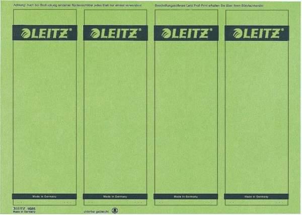 Rückenschilder Leitz 1685 PC A4 breit grün 25 Blatt = 100 Stck.
