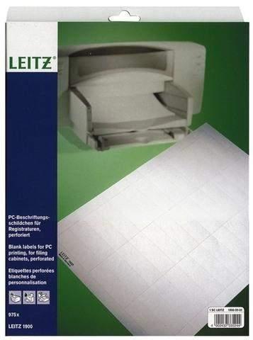 Beschriftungsschilder Leitz 1900 für PC-Beschriftung weiß 1 Pckg