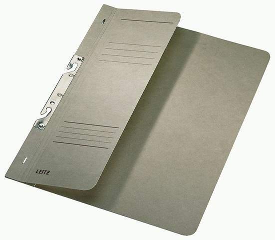 Schlitzhefter Leitz 3744 A4 250g halber Deckel kfm. Heftung grau