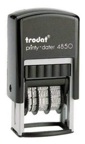 Datum Selbstfärberstempel Trodat 4850 printy BEZAHLT 3,8mm